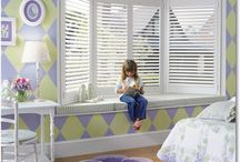 Hunter Douglas Heritance Hardwood Shutters / If you are looking at bringing your windows to life, we carry the full line of Hunter Douglas products. Duette. Luminette. Silhouette. Applause. Vignette.
