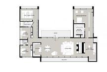U Shaped House Plans