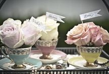 Tea party deco, Tabletop & All Things Tea / Chic Soirées, Afternoon Tea, Garden Parties, and any other reason to mingle with friends. / by Stephanie Falcon