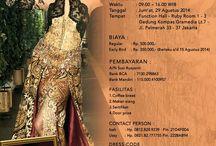 Kursus Singkat Cipta Bustier & Kebaya / Banyak orang yang bisa membuat bustier & kebaya Tapi tidak setiap orang yang mampu merancang bustier & kebaya dengan BENAR. PAS DI TUBUH, NYAMAN DI PAKAI & membuat tubuh sang pemakai menjadi lebih INDAH.  Jika anda ingin menjadi salah satu Designer yang mampu merancang Bustier & Kebaya...  Yuk Ikuti: KURSUS SINGKAT CIPTA BUSTIER & KEBAYA Jakarta, 9 - 12 September 2014 Biaya : Rp. 2,5 Juta (Untuk Pembayaran s/d 15 Agustus 2014)  Info Detail Hub: Ussy Hp. 0821.82.777755 or Invite Pin. 2228AB94