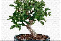 Haft Krzyżykowy - Drzewa