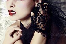 Maquillage goth vampire