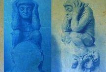 Poepers of dakkakkers / Beelden of afbeeldingen van poepers en dakkakkers in de kunst, cultuur, architectuur, geïnspireerd door artikel van Bernadette van Helleberg Hubar http://ifthenisnow.eu/nl/artikelen/het-poepende-mannetje-op-de-nieuwe-bavo