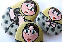 les cailloux de granny© / Trouvés, lavés, bichonnés, préparés, peints... ces cailloux sont des créations exclusives Granny© http://coucou-c-granny.blogspot.fr/