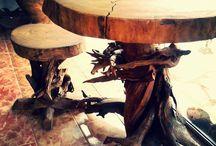 Móveis de madeira recuperada by Do Lado de Lá / Móveis feitos com madeiras recuperadas do Cerrado, que seriam usadas para lenha