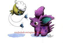 Pokemon Aquarelles / Mes Créations Pokemon à l'Aquarelle :) Commandes Possibles sur Facebook : Angie Poke Créations