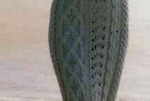 платья вязаные спицами