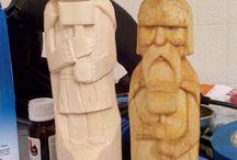 sculture tronchi
