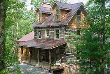 Log cabins / by Shawnna Wheeless