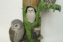 Owl carving