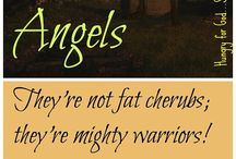 Angels / Strong beings--not just cute cherubs.