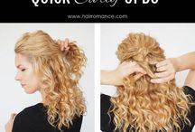 Účesy - Kudrnaté vlasy