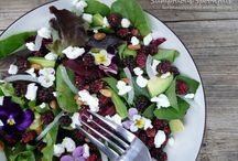 Mulberry Lodge summer salads / Delicious salads for summer bbq's, lunches and dinner parties. Being inspired by fresh produce from our veggie garden