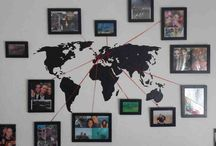 World Map Photo Wall