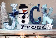 Winter Crafts 2016 / Unfinished Wood Winter Crafts