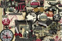 Pirate Scrapbooking Supplies / Digital Scrapbooking supplies with a pirate theme or feel.