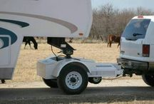 Hitch with wheels  intermediate for goose rv towing