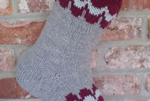 Christmas knit socks