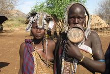 Mursi, Omo valley, Ethiopia / Women use big jewelry, because they are happy to be women. Women have a need to feel that they are women.  #Mursi #OmoValley #Ethiopia A tribe from Omo River region, Ethiopia    https://en.wikipedia.org/wiki/Mursi_people