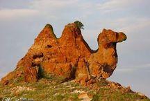 Különleges formájú sziklák