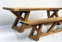 Sets of tables and benches