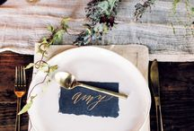 preppy place settings / by Classic Bride blog