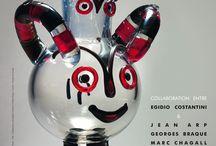 Exposition Le verre et les grands maîtres de l'art moderne / Œuvres créées par Egidio Costantini en collaboration avec les grands maîtres de l'art moderne expo du 21 juin au 3 novembre 2013 - Musée Lalique