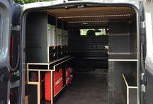 mobile workshop and vans