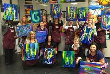 Being Creative / This board is about all things creative including participating in a Painting with a Twist event with professionals who pretended to be artistic for an evening...it was fun!