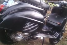 Black scooter / Dark vespa