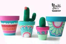 macetas c cactus crochet