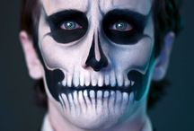mens skull makeup face paintings