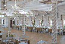 Дизайн интерьера ресторана в стиле прованс / Пожелания заказчика: дизайн проект ресторана в стиле прованс призван продемонстрировать, как можно превратить сруб в роскошный ресторан.