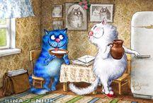 коты рисунки интересное