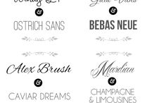 What the font? / All kinds of fonts to inspire you!