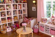 Kids room decor and storage