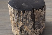 Rustic Wood Log Side Tables / The world's most amazingly beautiful rustic style wood log side tables for home furniture decoration.