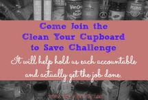 Clean Your Cupboards Challenge / Help each other stay accountable on the challenge to save by cleaning your cupboards.  If you decide to join, Pin at least one a week or you'll get a reminder.