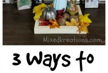 Thanksgiving & Fall craft ideas / Thanksgiving & Fall craft ideas, diy home decor, handmade Thanksgiving craft projects and home decor
