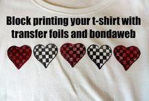 Arts and crafts Transfer Foil and Bondaweb Tee Shirt