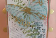 Butterfly Basics Stamped cards