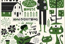 Our House / Three colour screen print