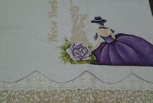 pintura em tecido - nossos trabalhos / artesanato feito por mim e minhas filhas