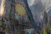 Fantastic fortresses (inspirative artworks)