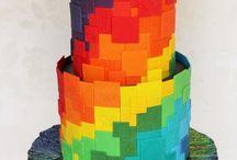 cake and more rainbow