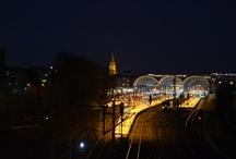 Kiel am Abend / Kiel Impressionen am Abend. Skyline von Kiel