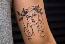 Art historical tattoos