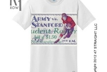 Stanford Football Tickets, Stanford Football Ticket Shirts, Stanford Football Ticket Art / Stanford Football tickets! Rare Stanford football tickets, vintage Stanford football tickets, authentic Stanford football tickets turned into ROW 1™ Stanford football ticket shirts, Stanford football ticket art, Stanford football tickets on canvas, and Stanford football ticket coasters made from vintage football tickets. The 47 STRAIGHT COLLECTION™ / by Row One Brand