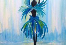 Ballerina / Ballerina blue small painting