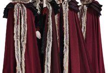 cloaks, coats hoods and jackets